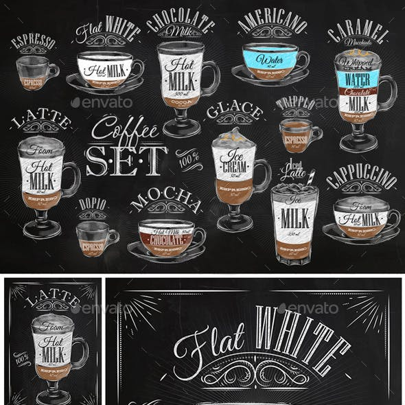 Set Coffee Chalk