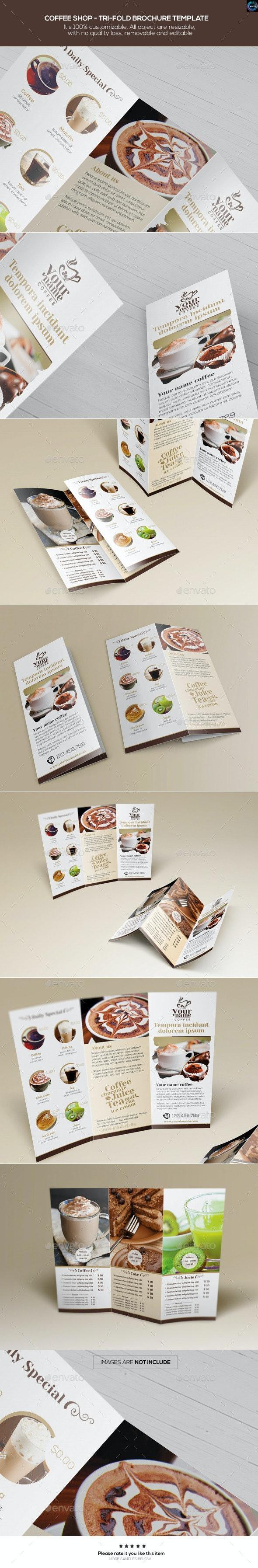 Coffee Shop - Trifold Brochure Template - Catalogs Brochures