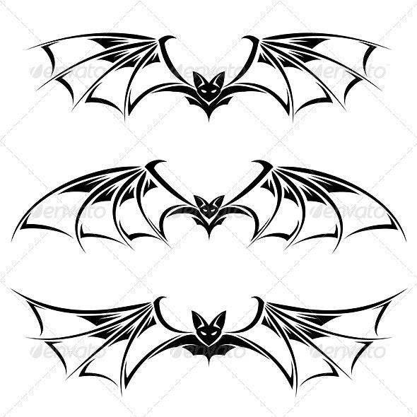 Bats - Tattoos Vectors