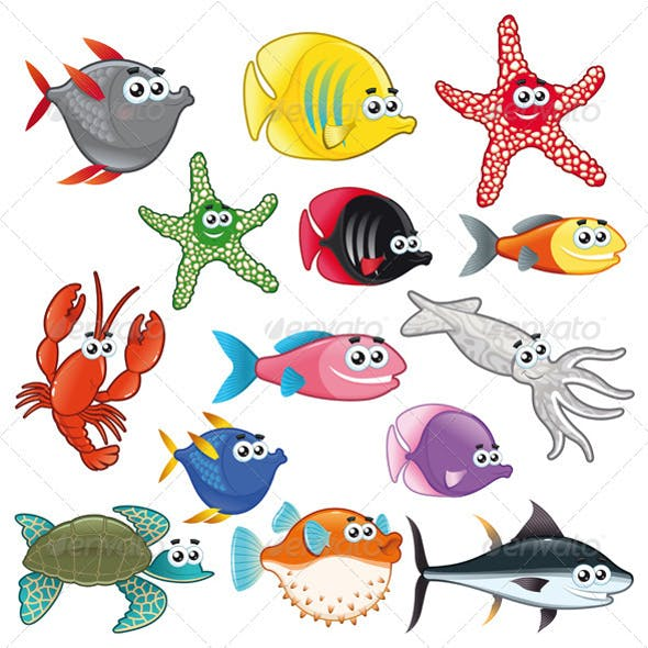 Family of Funny Fish