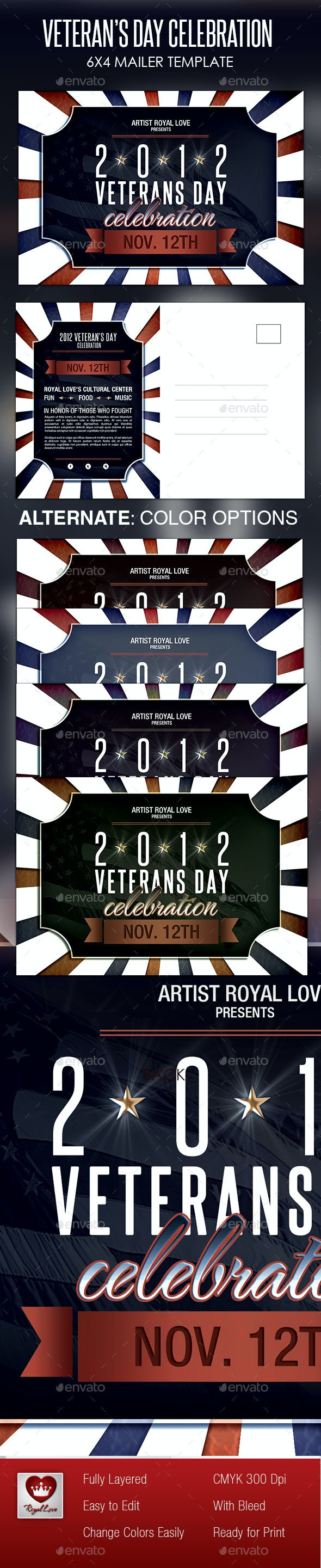 Veterans Day Celebration Mailer - Holiday Greeting Cards