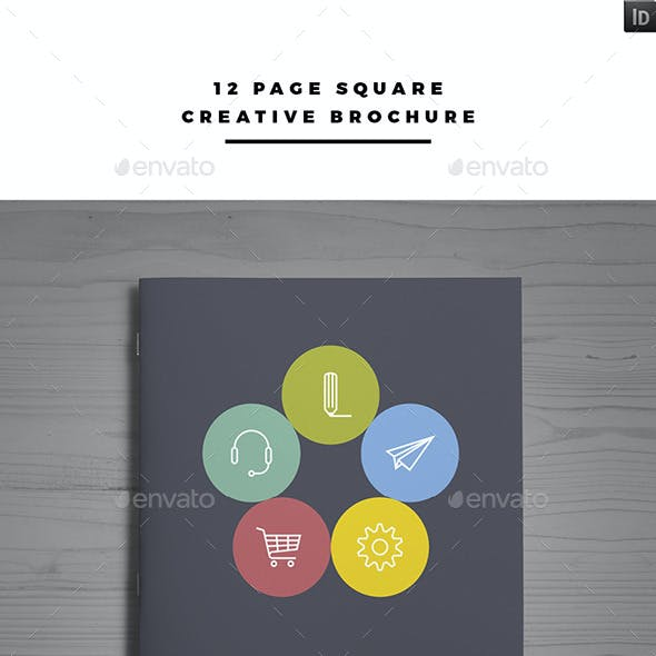 12 Page Square Creative Brochure