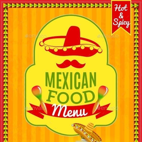 Mexican Food Menu Poster