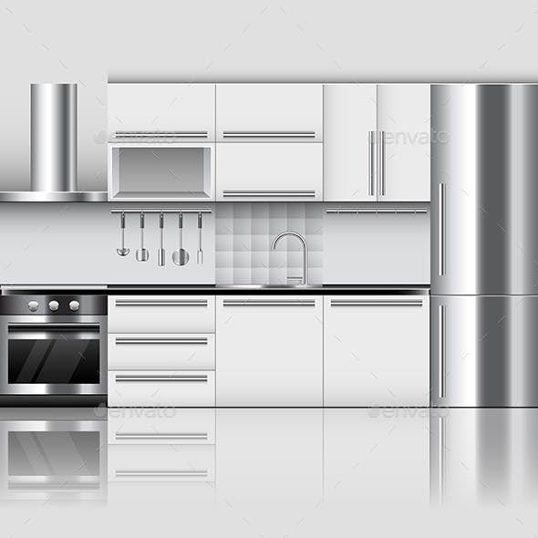 Modern Kitchen Interior Background