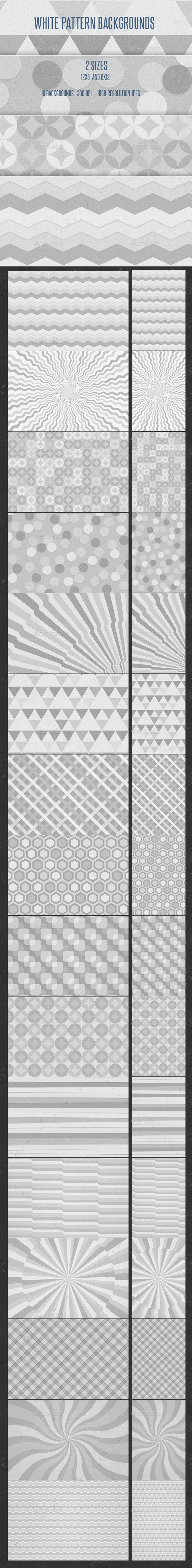 White Patterns Backgrounds - Patterns Backgrounds