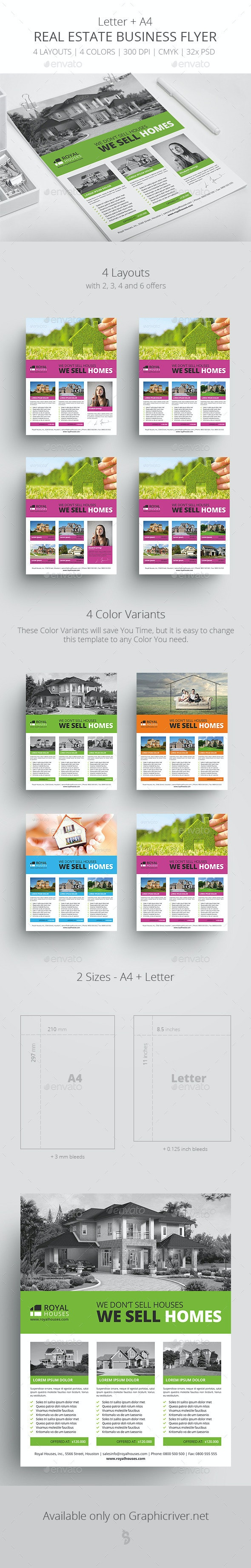 Real Estate - Business Flyer Template 1 - Corporate Flyers