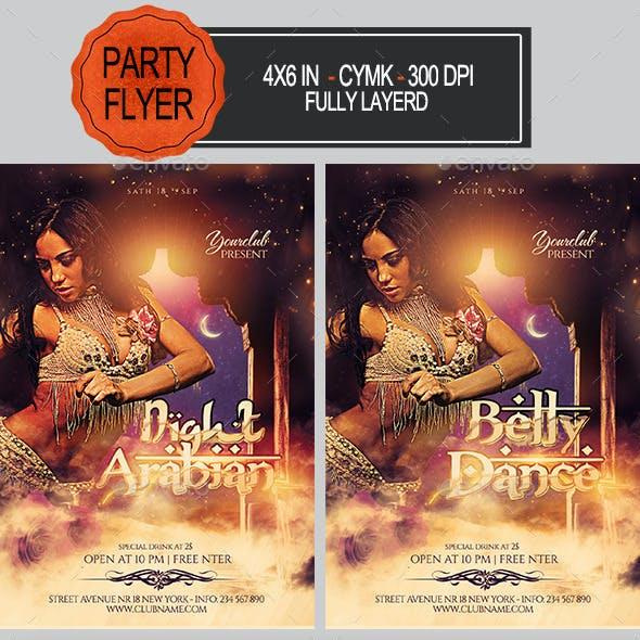 Arabian /Belly Dance Party Flyer