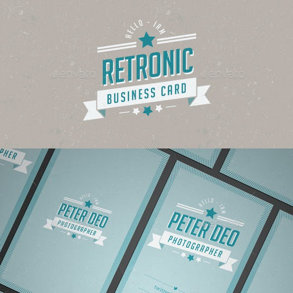 Retronic Business Card Template