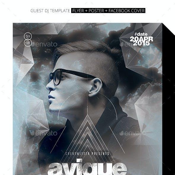 Urban Guest DJ Flyer / Poster / Facebook Cover