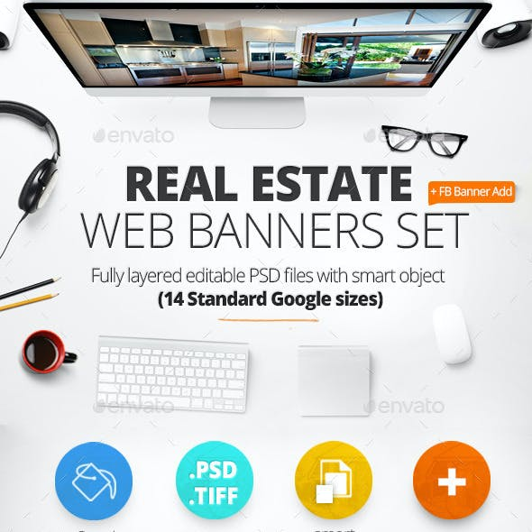 Real Estate Web Baners & Facebook Banner