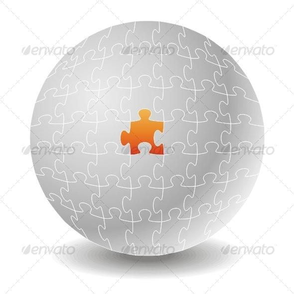Chosen puzzle. Concepts - Backgrounds Decorative