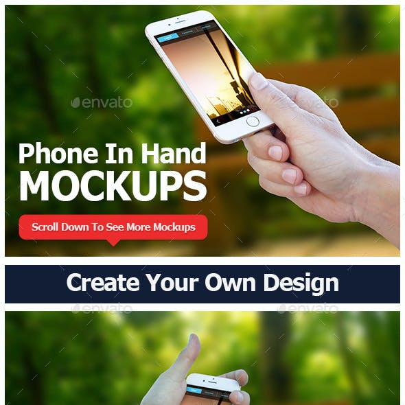 Smartphone in Hand Mockup Vol 2