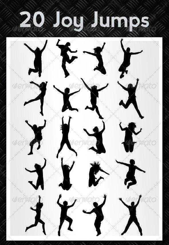 Joy jumps - Characters Vectors