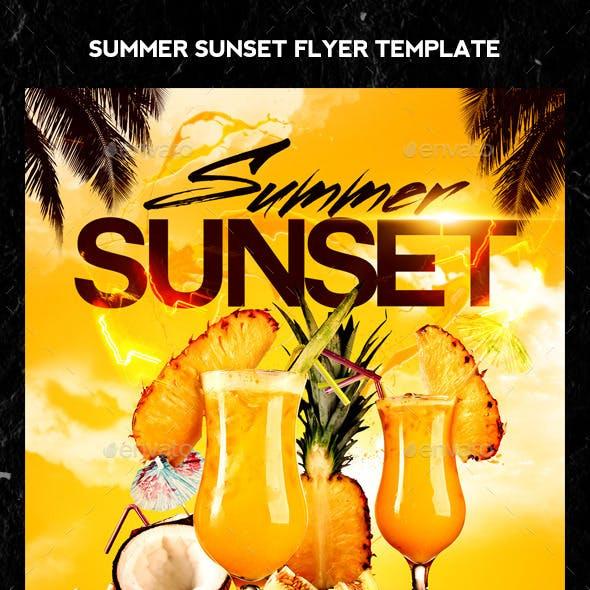 Summer Sunset Flyer