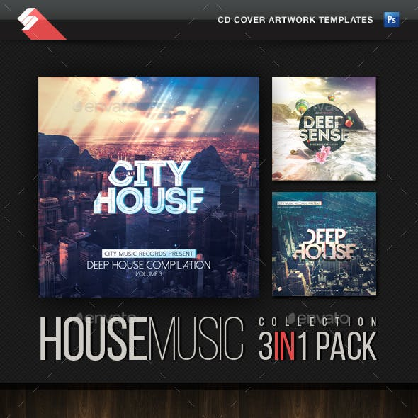 House Music Collection - CD Cover Templates