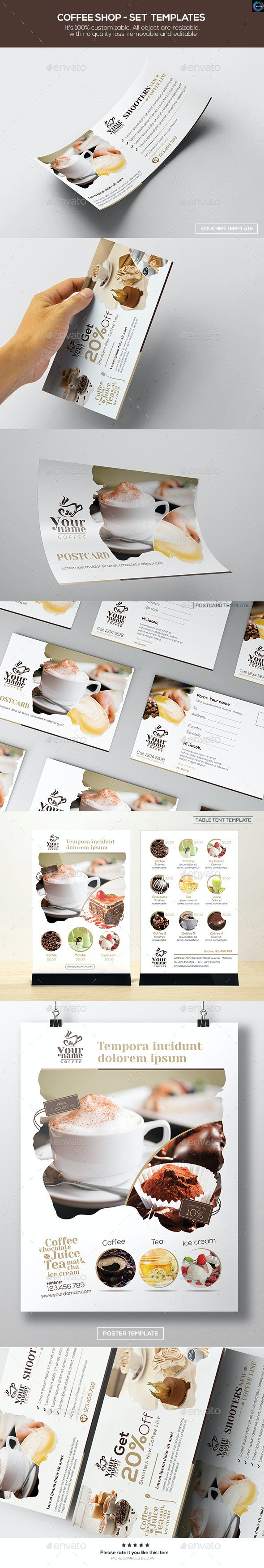 Coffee Shop - Set Templates - Food Menus Print Templates