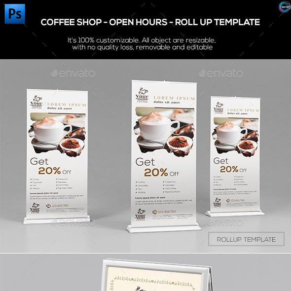 Coffee Shop - Open Hours/ RollUp Template