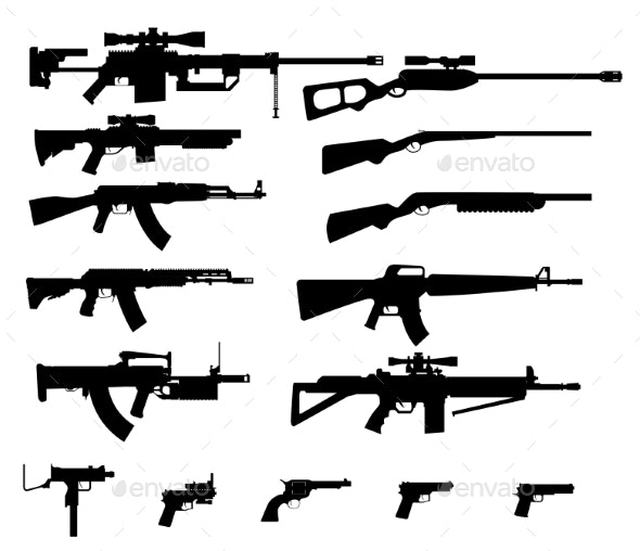 Gun Set - Man-made Objects Objects