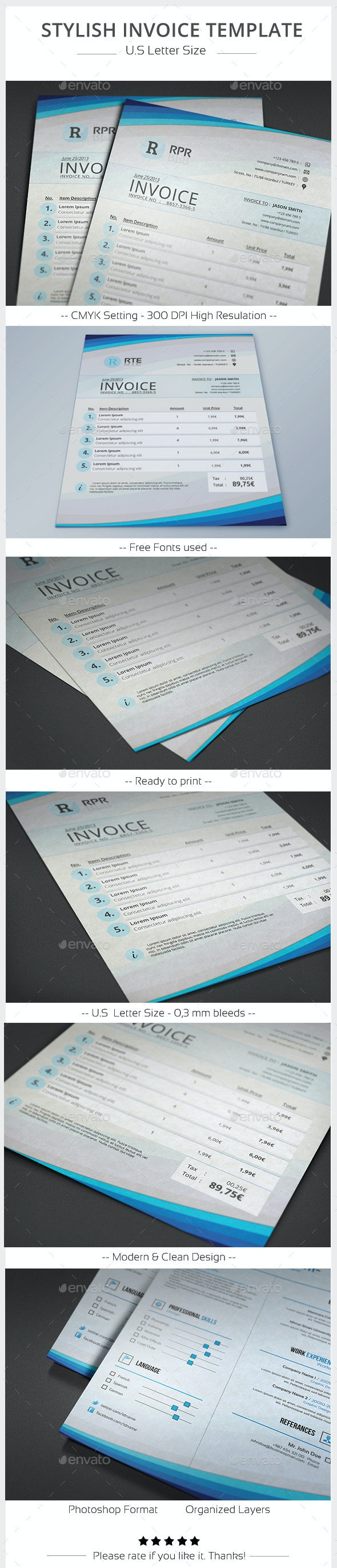 Stylish Invoice Template - Proposals & Invoices Stationery