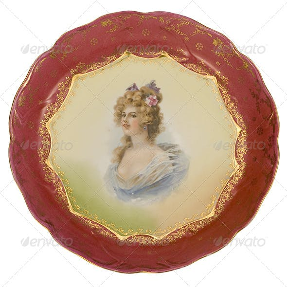 Painted Antique Plate