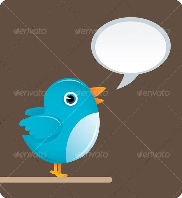 Twitter Bird - Animals Illustrations