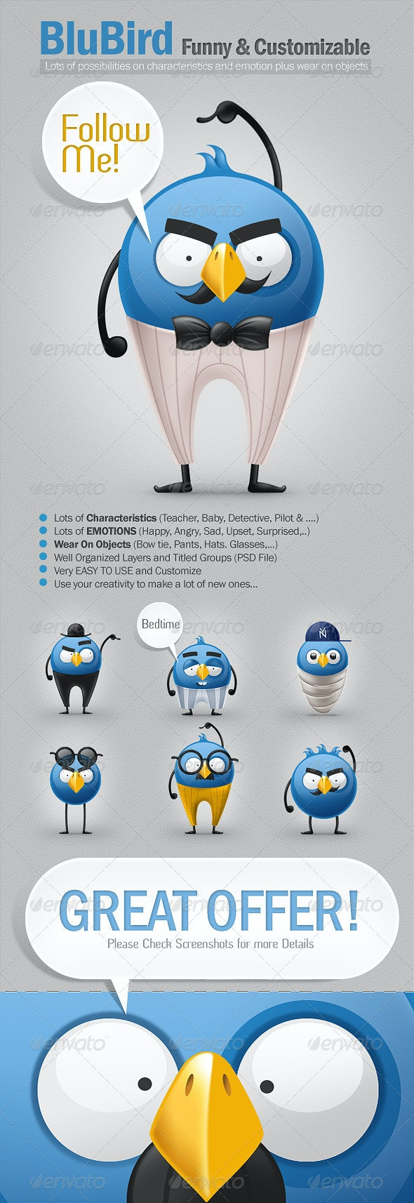 BluBird - Characters Illustrations