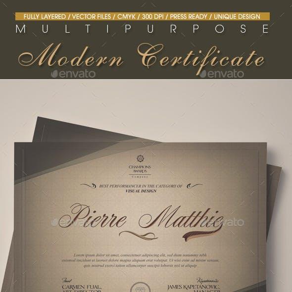 Multipurpose Modern Certificate v.7