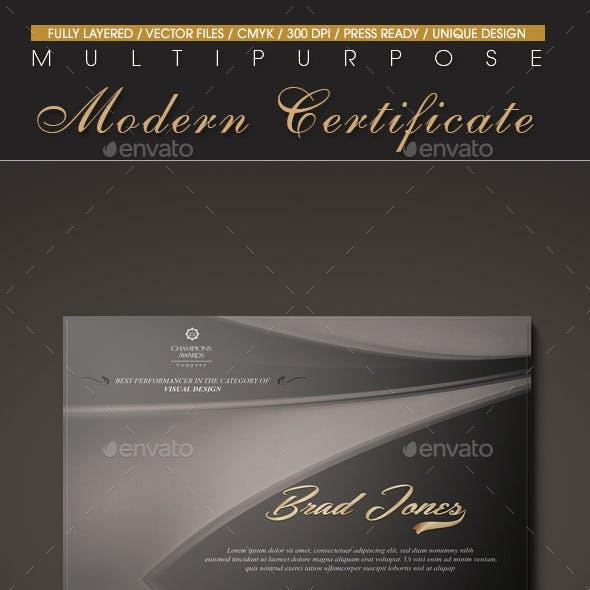 Multipurpose Modern Certificate v.8
