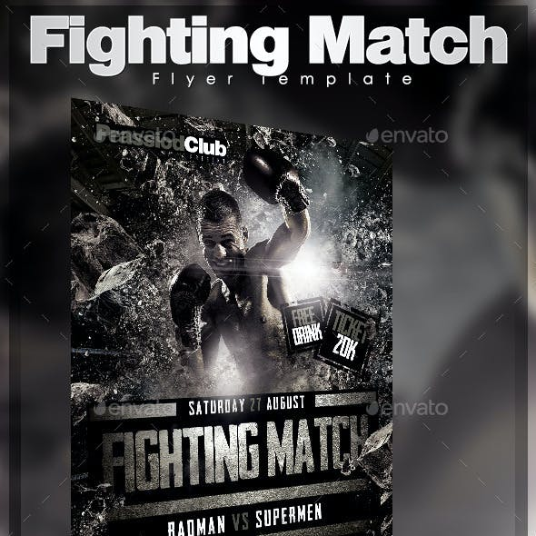 Fighting Match Flyer Template