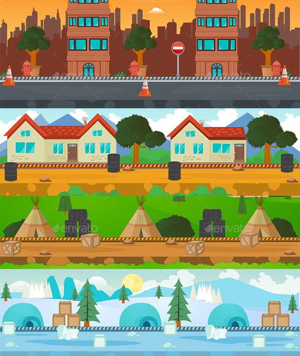 4 Great Game Background - Backgrounds Game Assets