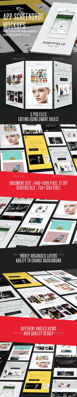 App Screenshot  Mockups - Mobile Displays