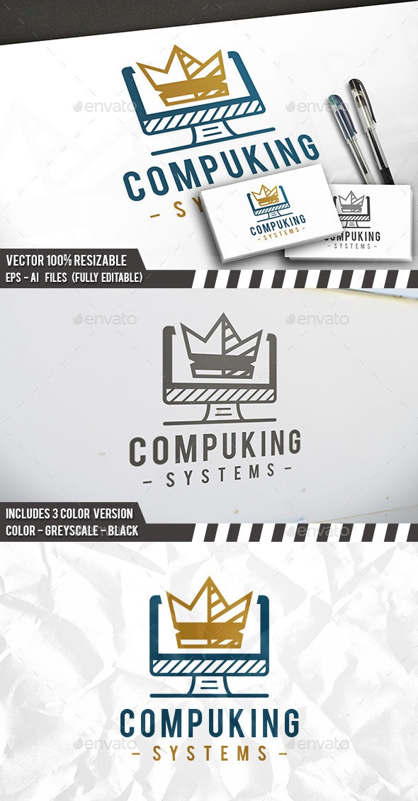 Computer King Logo - Objects Logo Templates