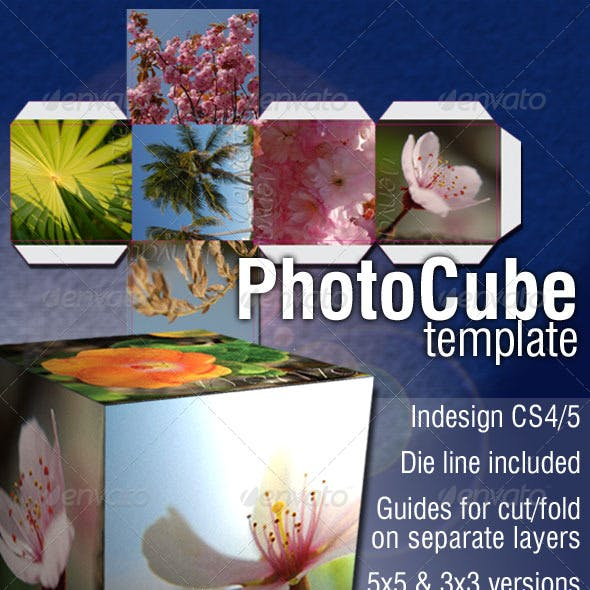 Photo Cube template