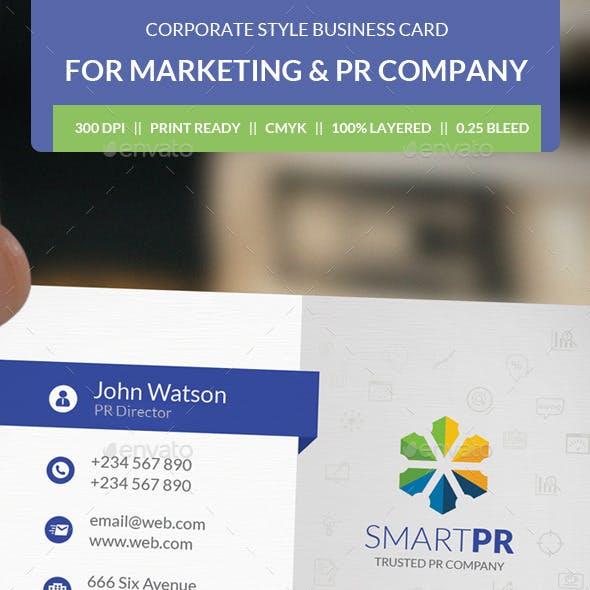 PR Agency Business Card