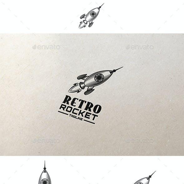Retro Rocket Logo