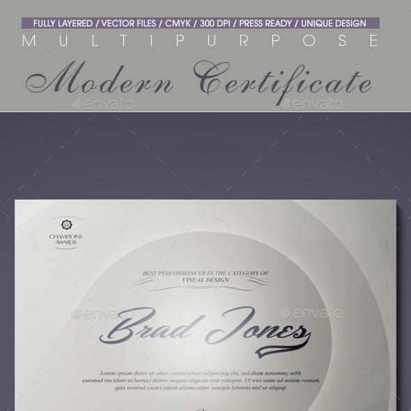 Multipurpose Modern Certificate v.10