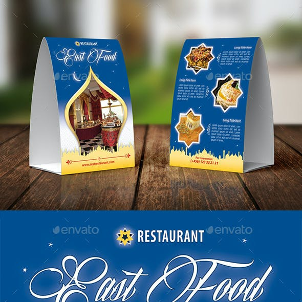 East Food Restaurant Table Tent Template 26