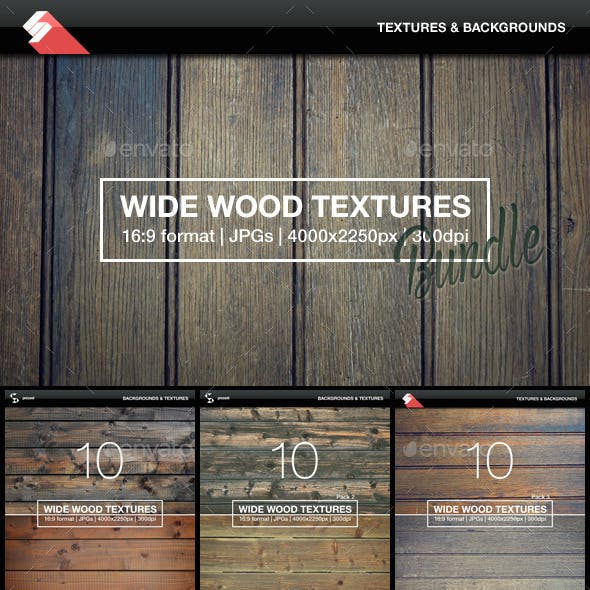 30 Wide Wood Textures Bundle
