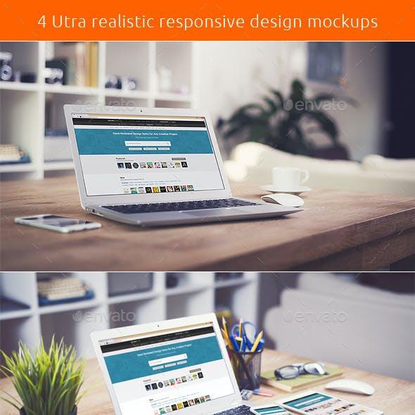 Utra Realistic Responsive Design Mockups