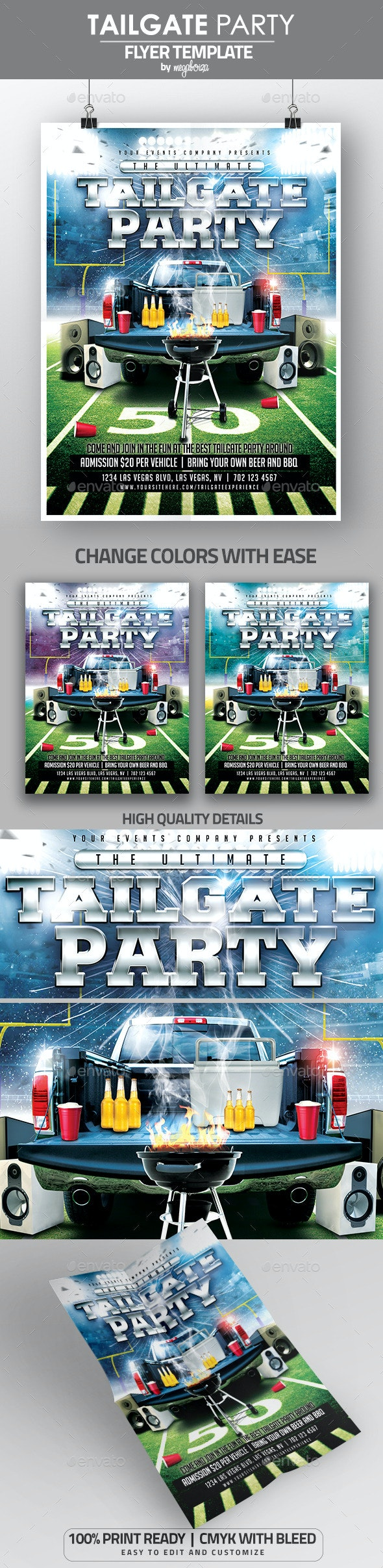 Ultimate Tailgate Party Flyer / Poster Template