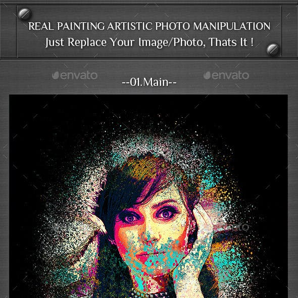 Real Painting Artistic Photo Manipulation