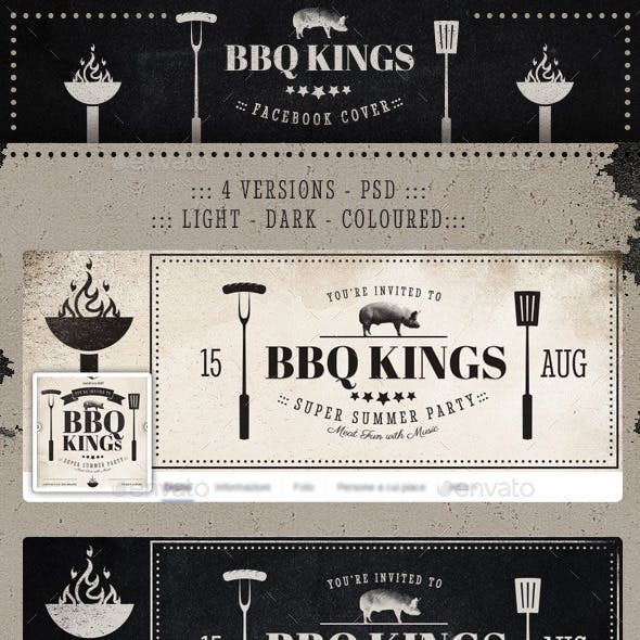 BBQ Kings - Vintage Barbecue Facebook Cover