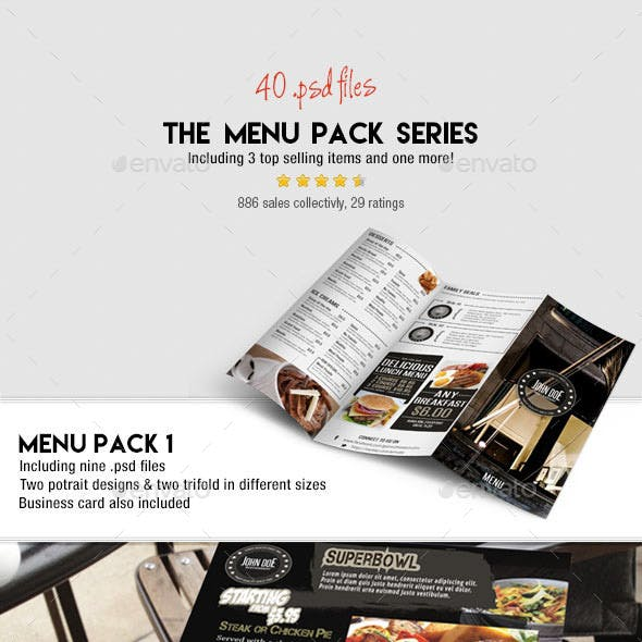 Menu Pack Series (Bundle)