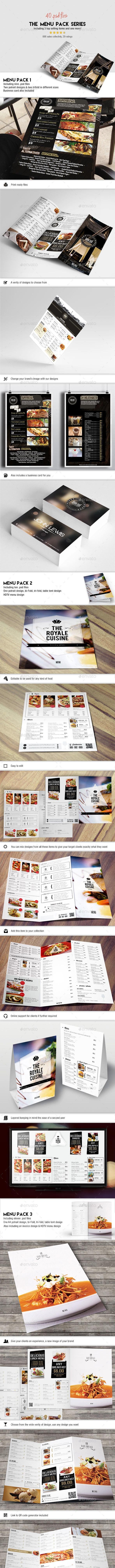 Menu Pack Series (Bundle) - Food Menus Print Templates