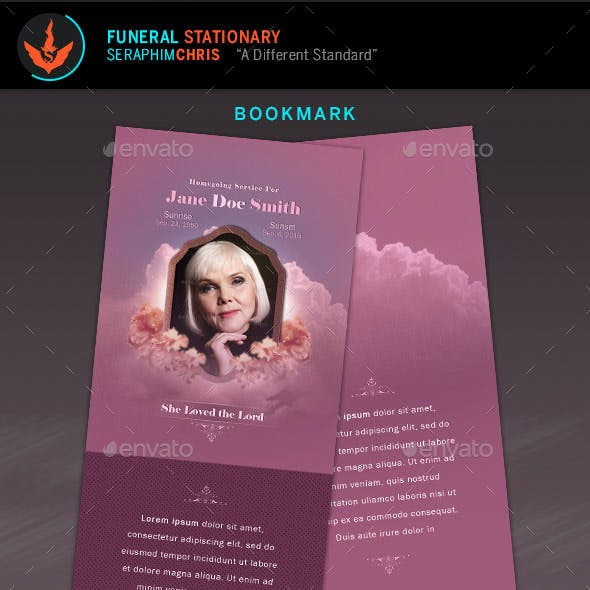 Funeral Stationery Set Template