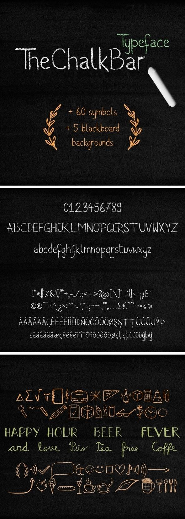 The Chalk Bar Typeface - Decorative Fonts