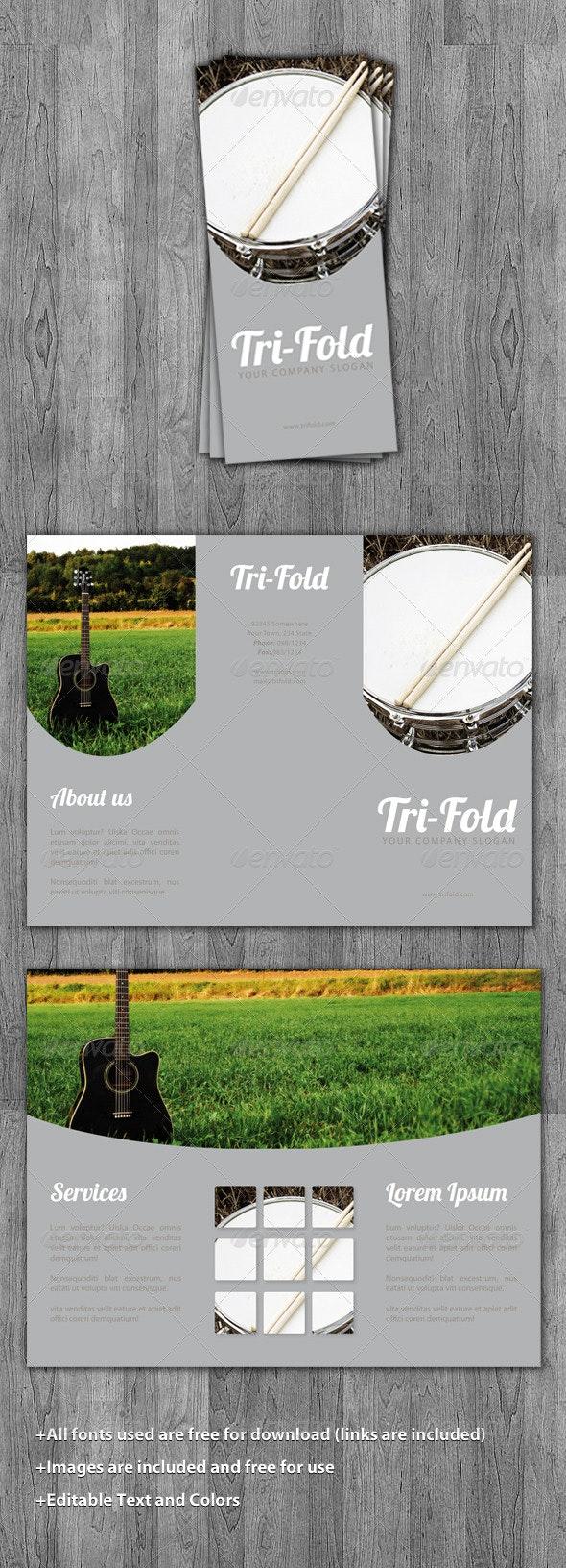 Tri-Fold Music Brochure Template - Corporate Brochures