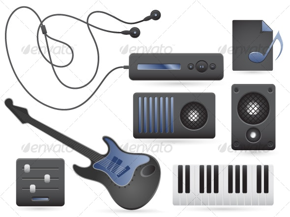 Music Icons Set - Web Icons