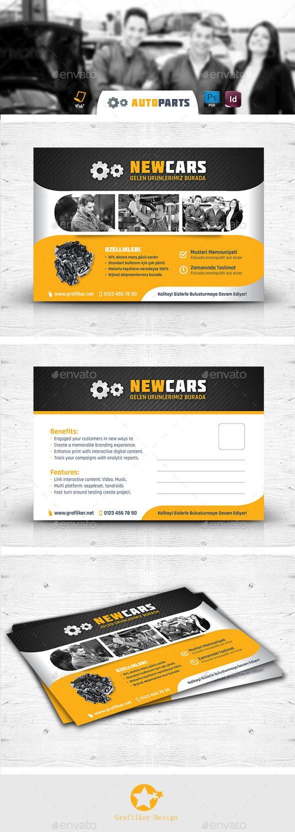 Automobile Service Postcard Templates - Cards & Invites Print Templates