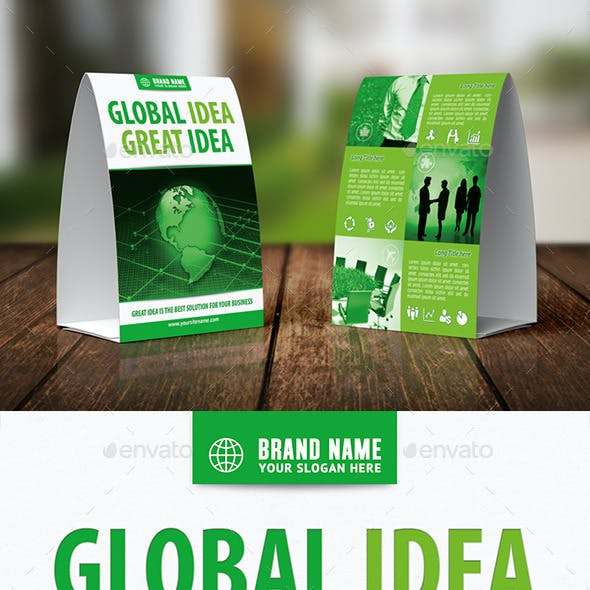 Business Idea Table Tent Template 27